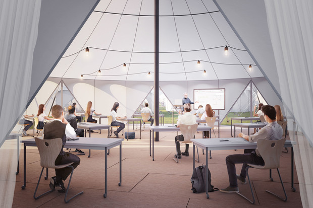 Tent classrooms could enable more students to safely return to school