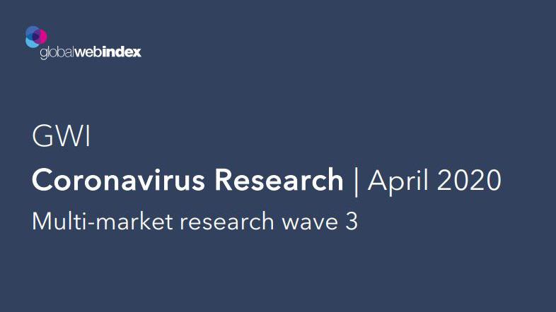 Coronavirus Research April 2020 Multi-market research wave 3 by Global WebIndex