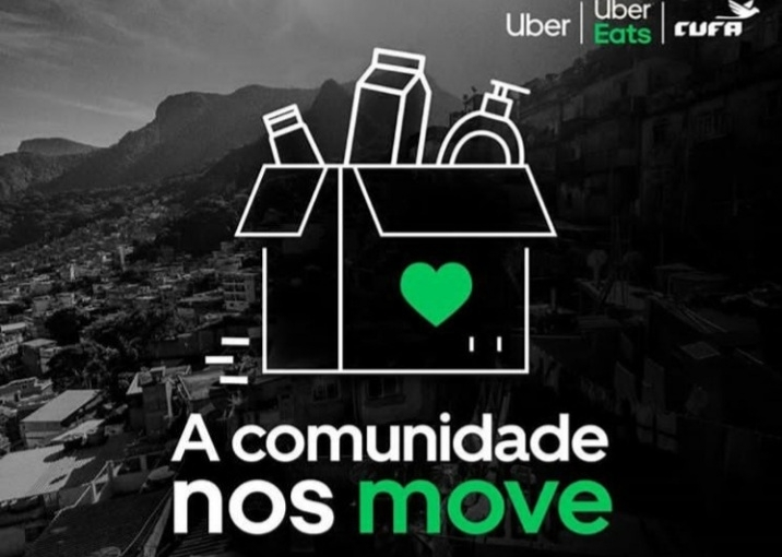 CUFA collects donations for favela residents through Uber Eats