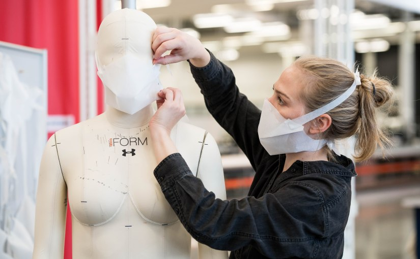 Under Armour develops no-sew protective mask that can be produced quickly and in large quantities