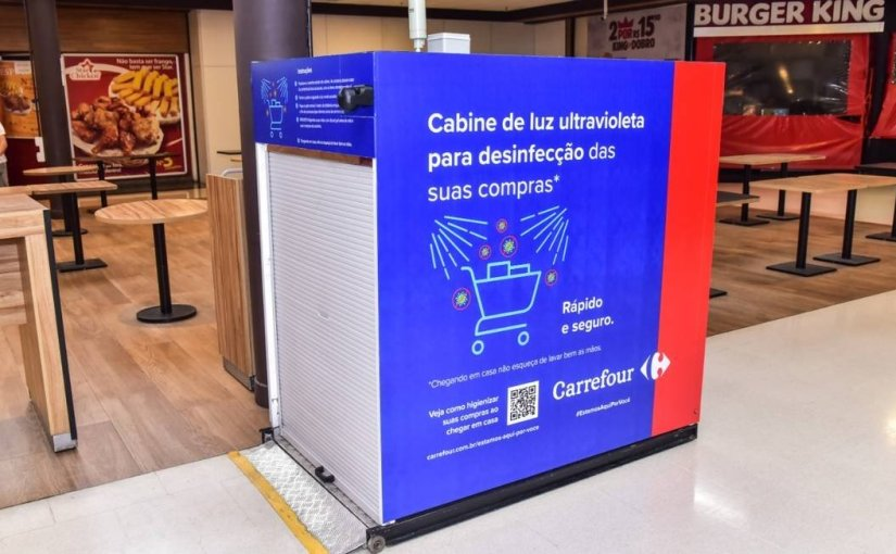 Supermarket Carrefour uses ultraviolet radiation to disinfect products from Coronavirus