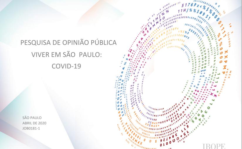 Viver em São Paulo: Especial pandemia por IBOPE Inteligência e Rede Nossa SãoPaulo