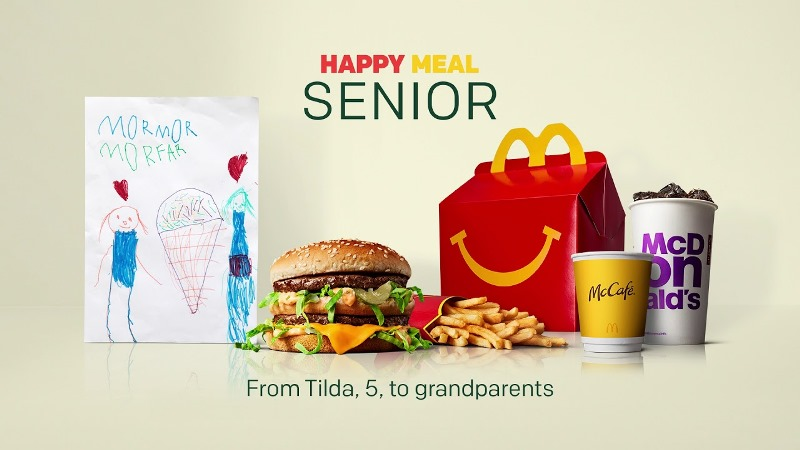 McDonald's Sweden creates version of Happy Meal for the elderly in social isolation