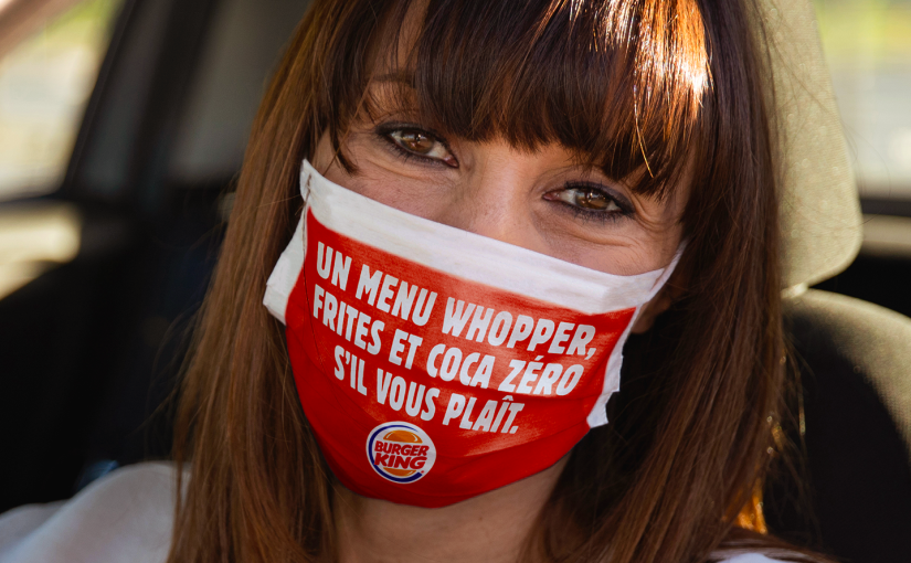 Burger King prints masks with order on it to avoid conversation with attendant