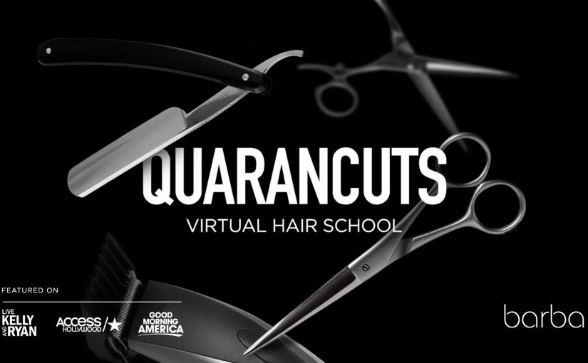 Quarancuts: uma escola on-line de cortes de cabelo durante aquarentena
