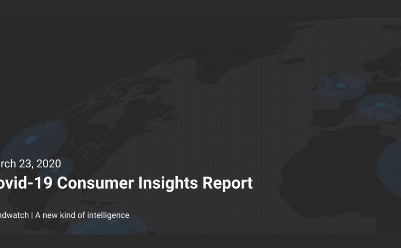 Covid-19 Consumer Insights byBrandwatch