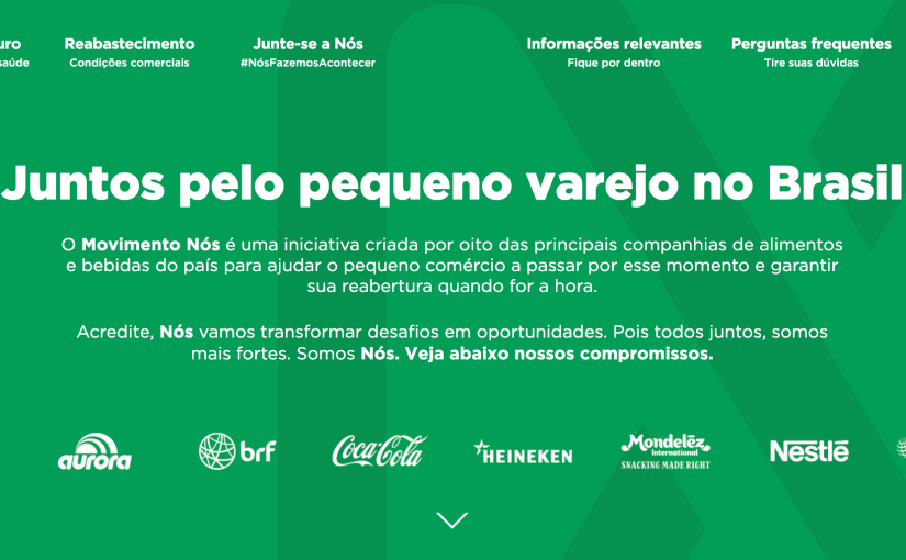 Movimento Nós: an initiative created by main food and beverage companies to help small Brazilian businesses